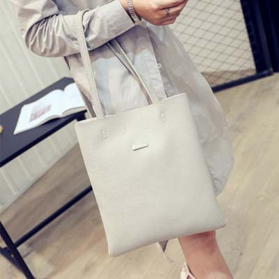 6162 Simple Tote Bag (Grey)