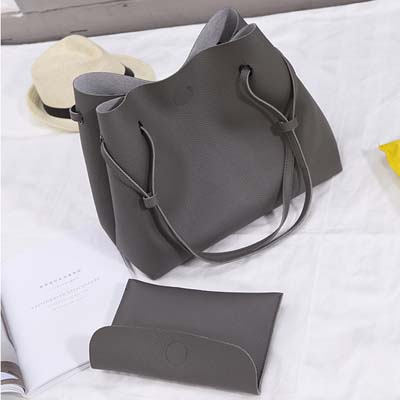 6172 Simple 2 in 1 Handbag (Grey)