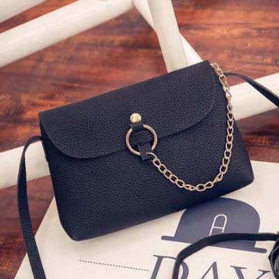 6182 Simple Sling Bag (Black)