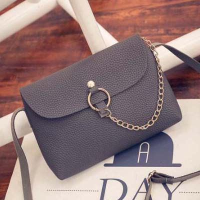 6182 Simple Sling Bag (Grey)