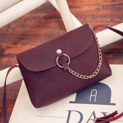 6182 Simple Sling Bag (Maroon)