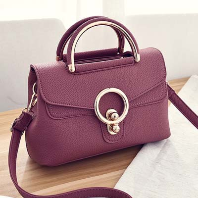 6205 Fashion Handbag (Dark Pink)