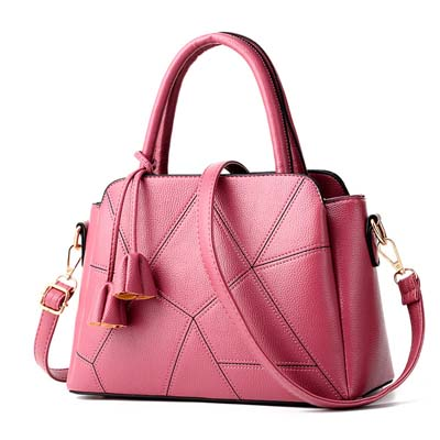 6208 Fashion Multi Layer Handbag (Dark Pink)
