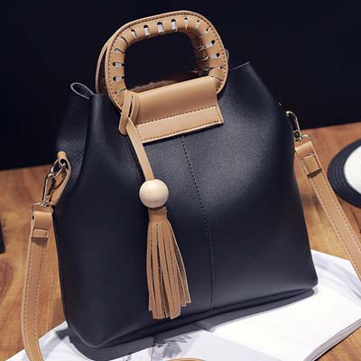 6223 Elegant 2 in 1 Handbag (Black)