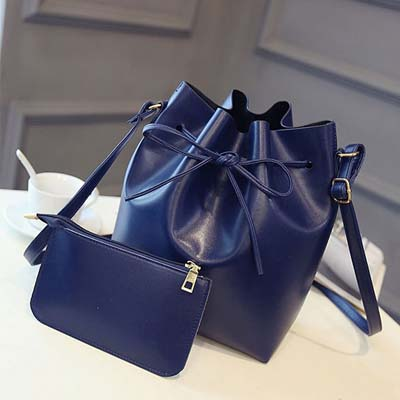 6245 Elegant 2 in 1 Bucket Bag (Blue)
