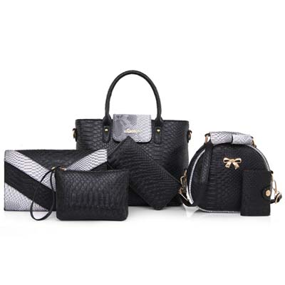 6286 Elegant 6 in 1 Bag (Black)