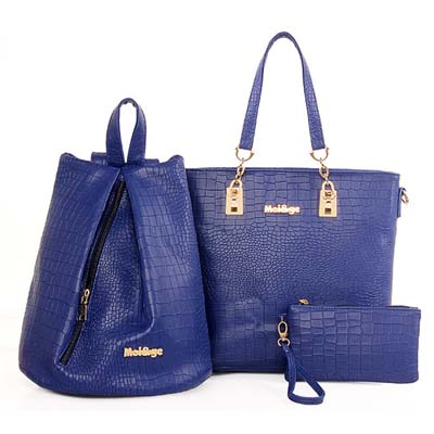 6287 Fashion 3 in 1 Bag (Blue)
