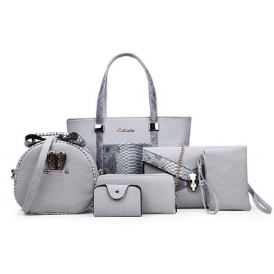 6289 Fashion 6 in 1 Bag (Grey)