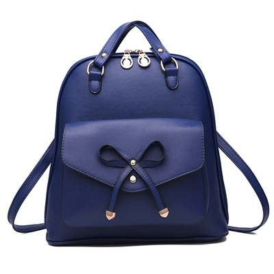6291 Fashion Ribbon Multipurpose Backpack (Blue)