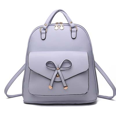 6291 Fashion Ribbon Multipurpose Backpack (Grey)