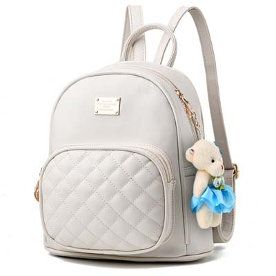 6297 Fashion Backpack Without Bear (White)