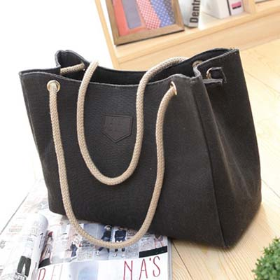 6325 Canvas Handbag (Black)