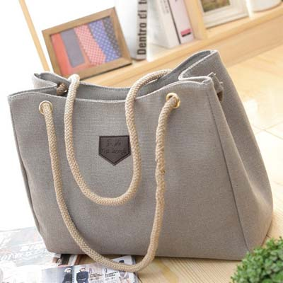 6325 Canvas Handbag (Grey)