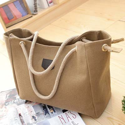 6325 Canvas Handbag (Khaki)