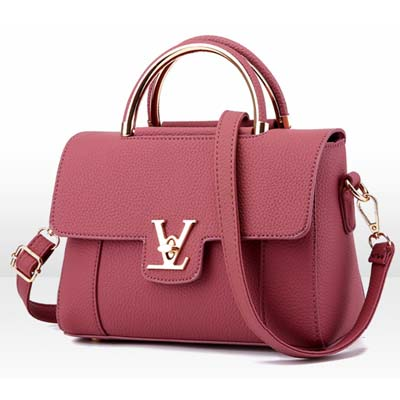 6350 Cute Handbag (Dark Pink)