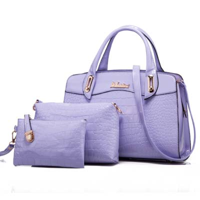 6352 Elegant 3 in 1 Bag (Purple)