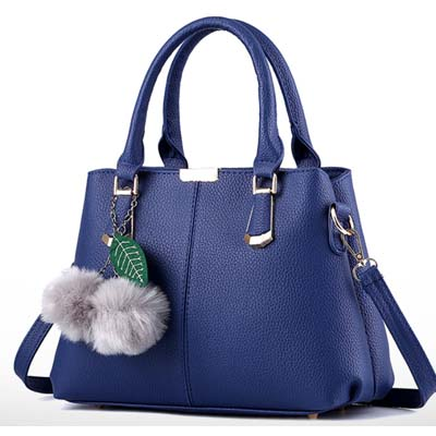 6355 Elegant Double Layer Handbag (Blue)