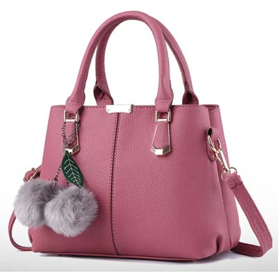 6355 Elegant Double Layer Handbag (Pink)