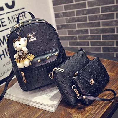 6381 3 in 1 Backpack (Black)