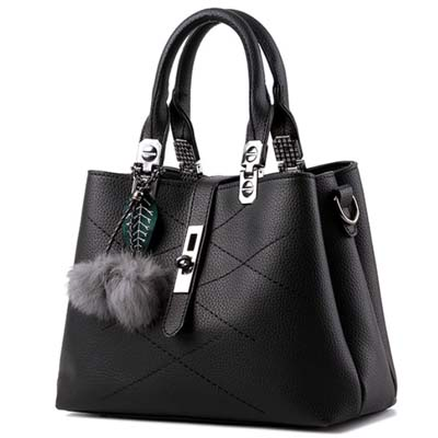 6413 Elegant Multi Layer Handbag (Black)
