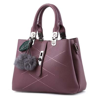 6413 Elegant Multi Layer Handbag (Purple)