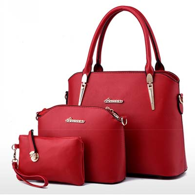 6422 Elegant 3 in 1 Bag (Red)