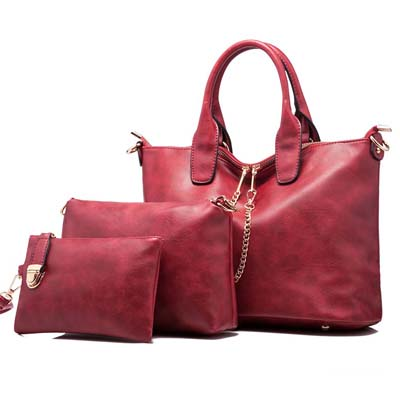 6455 Elegant 3 in 1 Bag (Maroon)
