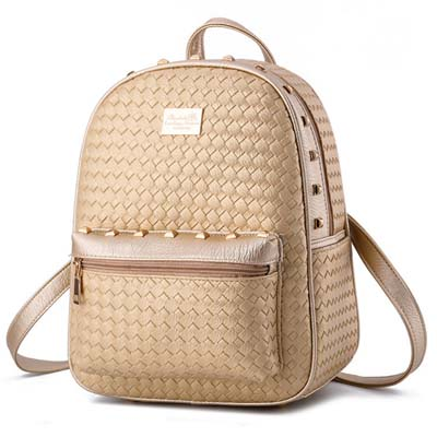6487 Fashion Punk Backpack (Gold)