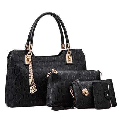 6502 Elegant 4 in 1 Handbag (Black)