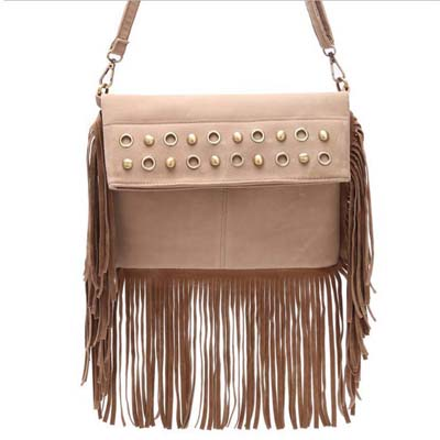 MNG6549 Fashion Tassel Sling Bag (Light Coffee)