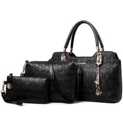 6554 Elegant 3 in 1 Handbag (Black)