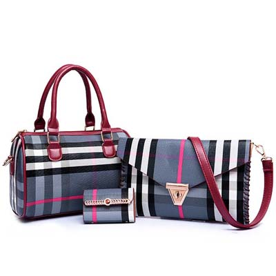 6560 3 in 1 Elegant Boston Bag (Blue)