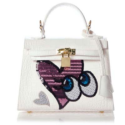 6566 Playnomore Popular Handbag (White)