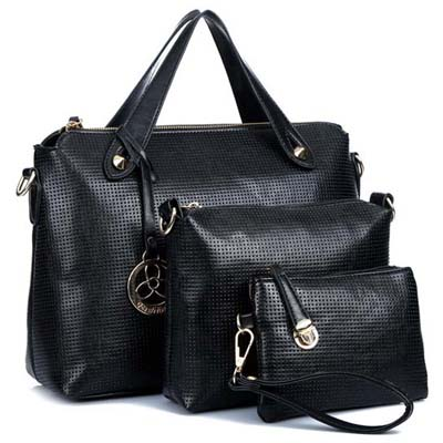 6762 3 in 1 Elegant Handbag (Black)