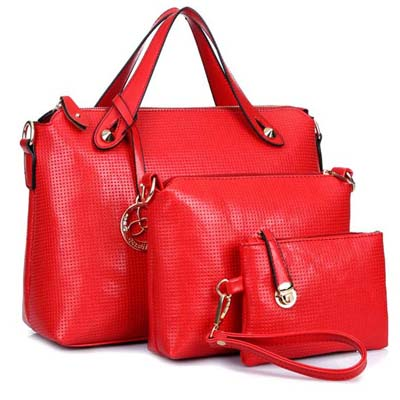 6762 3 in 1 Elegant Handbag (Red)