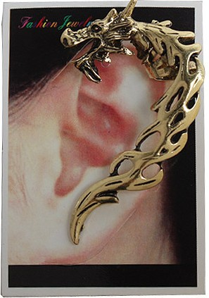 Dragon Ear Clips and Earrings