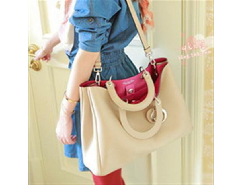 0799 YoYOo ELEGANT HOLLYWOOD BAG (ALMOND)