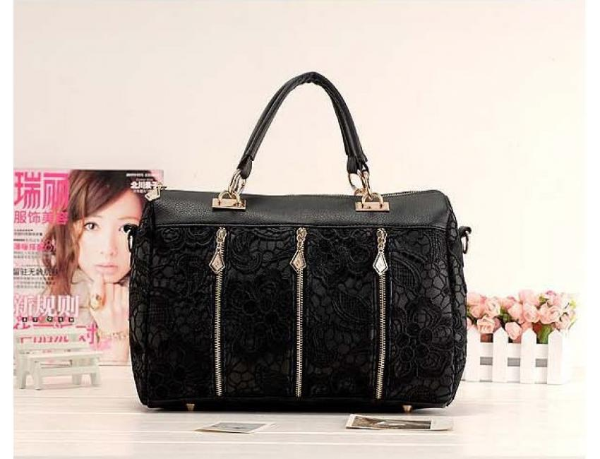 YoYOo FASHION STYLE LACE BAG (Black)
