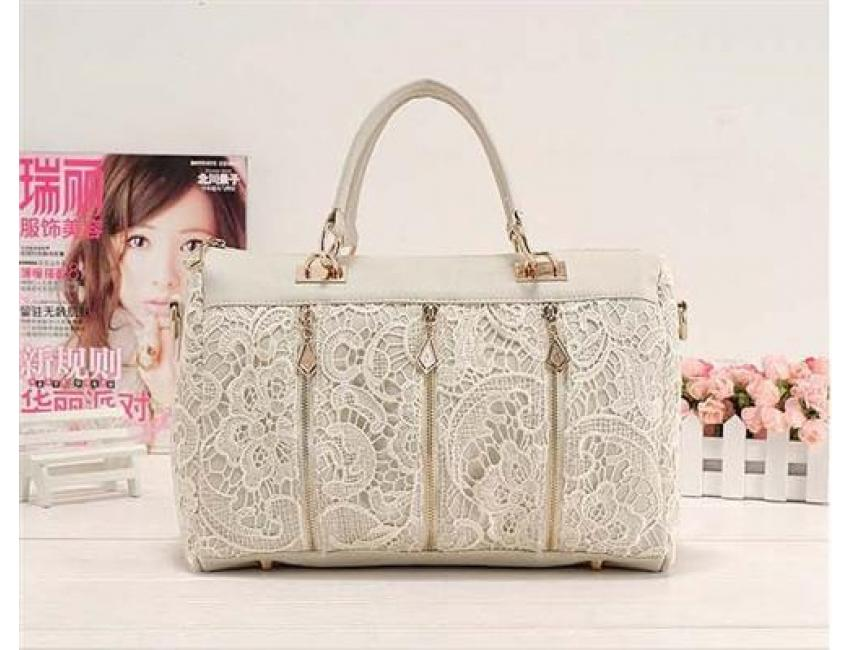 YoYOo FASHION STYLE LACE BAG (White)