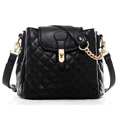 MNG6743 Mango Shoulder Bag (Black)