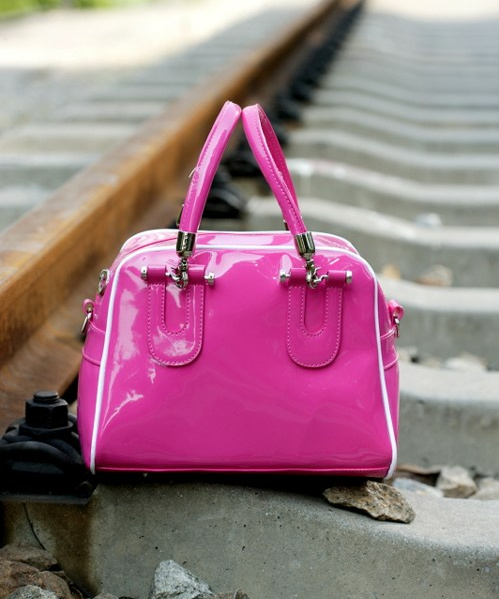 1287 Patent Leather Shoulder Bag (rose)