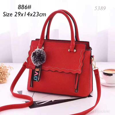 5389 Fashion Slingbag with Keychain (Red)