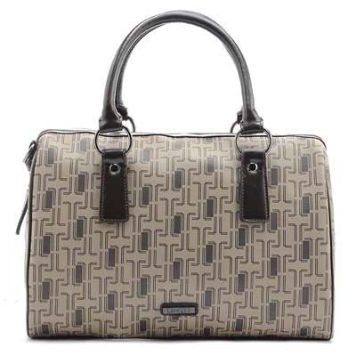 6704 Fashion Lancetti Boston Bag (Khaki) (Ori)