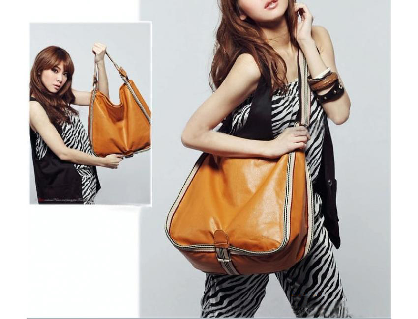 0185 YoYOo STYLE LARGE SHOULDER BAG (Brown)