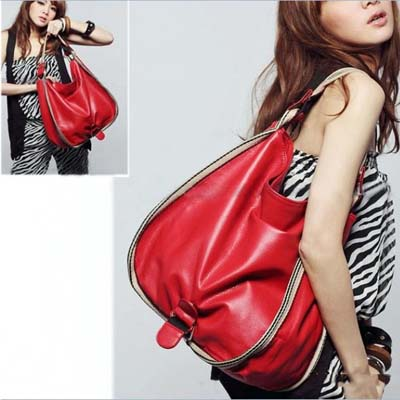 0185 YoYOo STYLE LARGE SHOULDER BAG (Red)