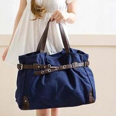 1028 YoYOo Korean Style Canvas Bag (Blue)