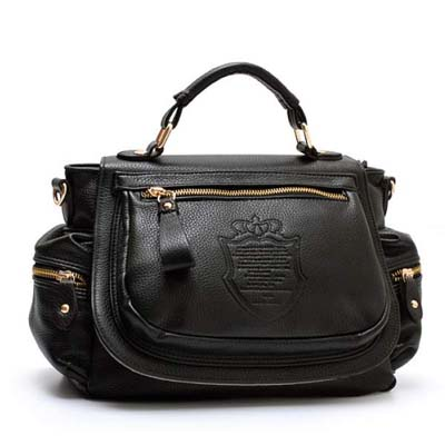 1202 Korea Style Pretty Sling Bag (Black)