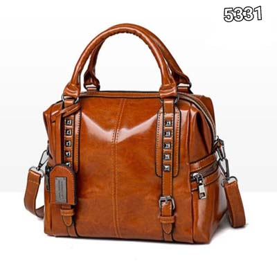 5331 Pu Leather Punk Slingbag (Brown)