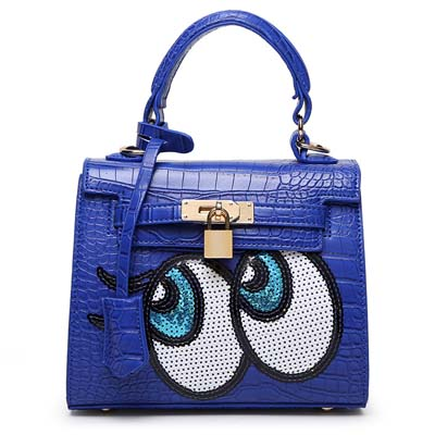 6596 Playnomore Popular Handbag (Dark Blue)
