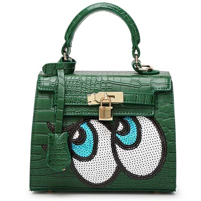 6596 Playnomore Popular Handbag (Dark Green)